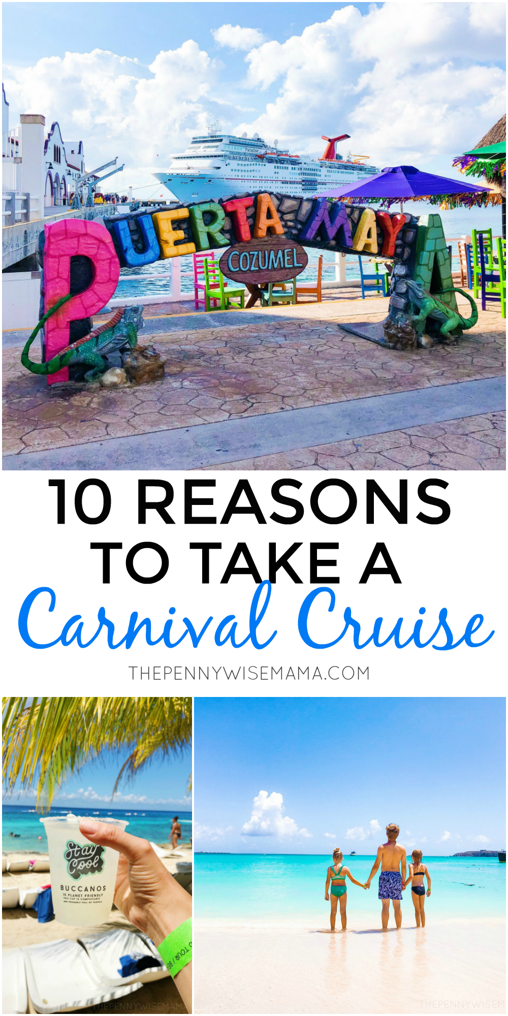 Thinking about taking a Carnival Cruise? Check out these top 10 reasons to book a Carnival Cruise for your next vacation!