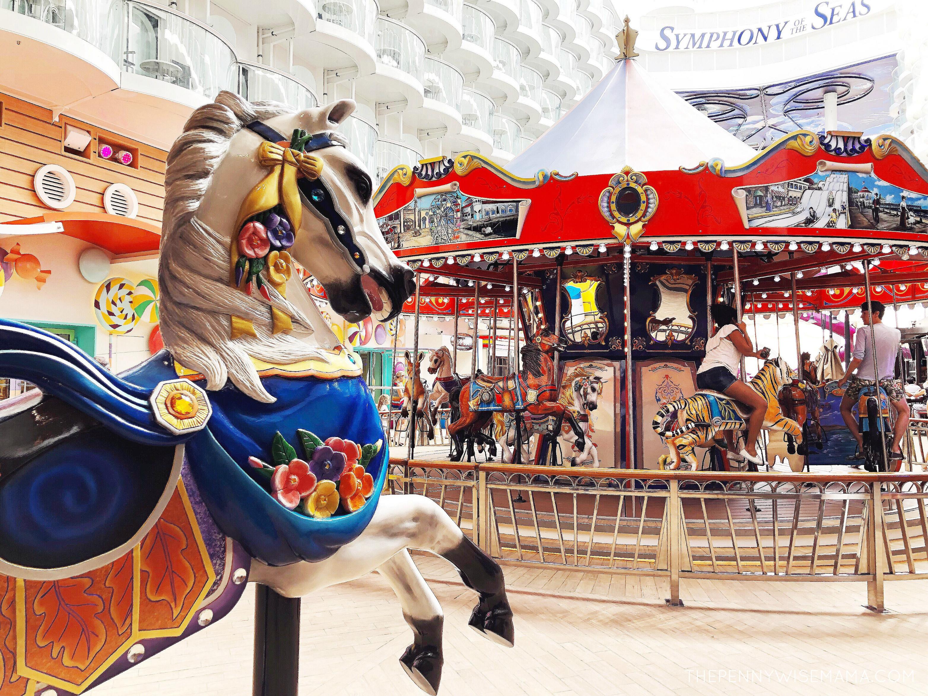 Symphony of the Seas Boardwalk Carousel