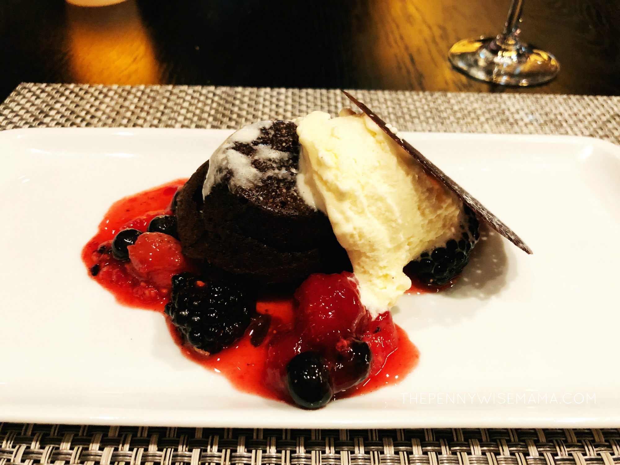 Royal Caribbean Symphony of the Seas - Chops Grille - Dessert