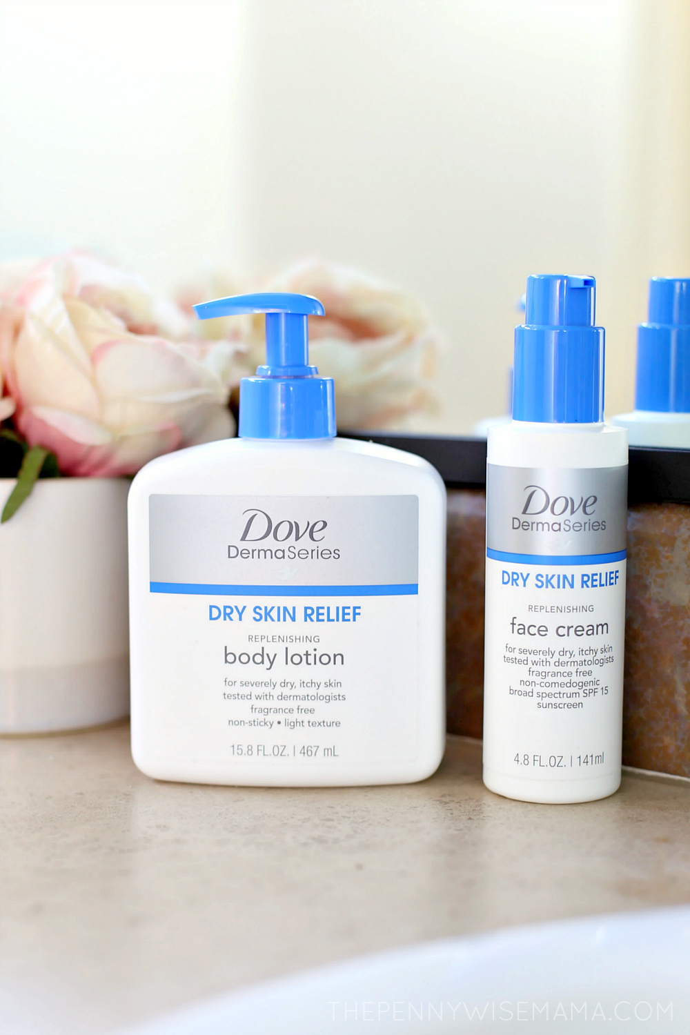 Dove DermaSeries products for dry, itchy skin
