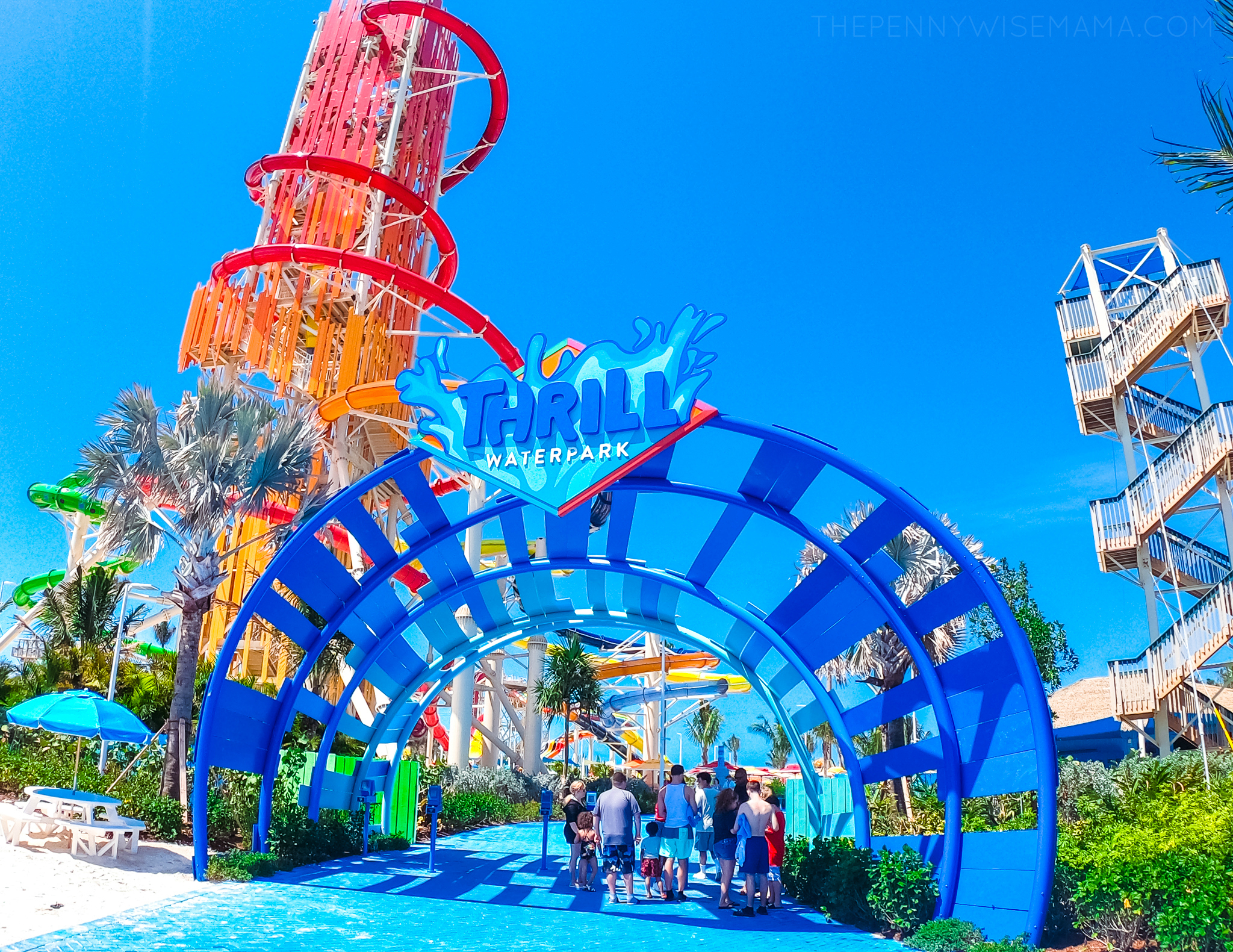 Entrance to Thrill Waterpark at Perfect Day at CocoCay