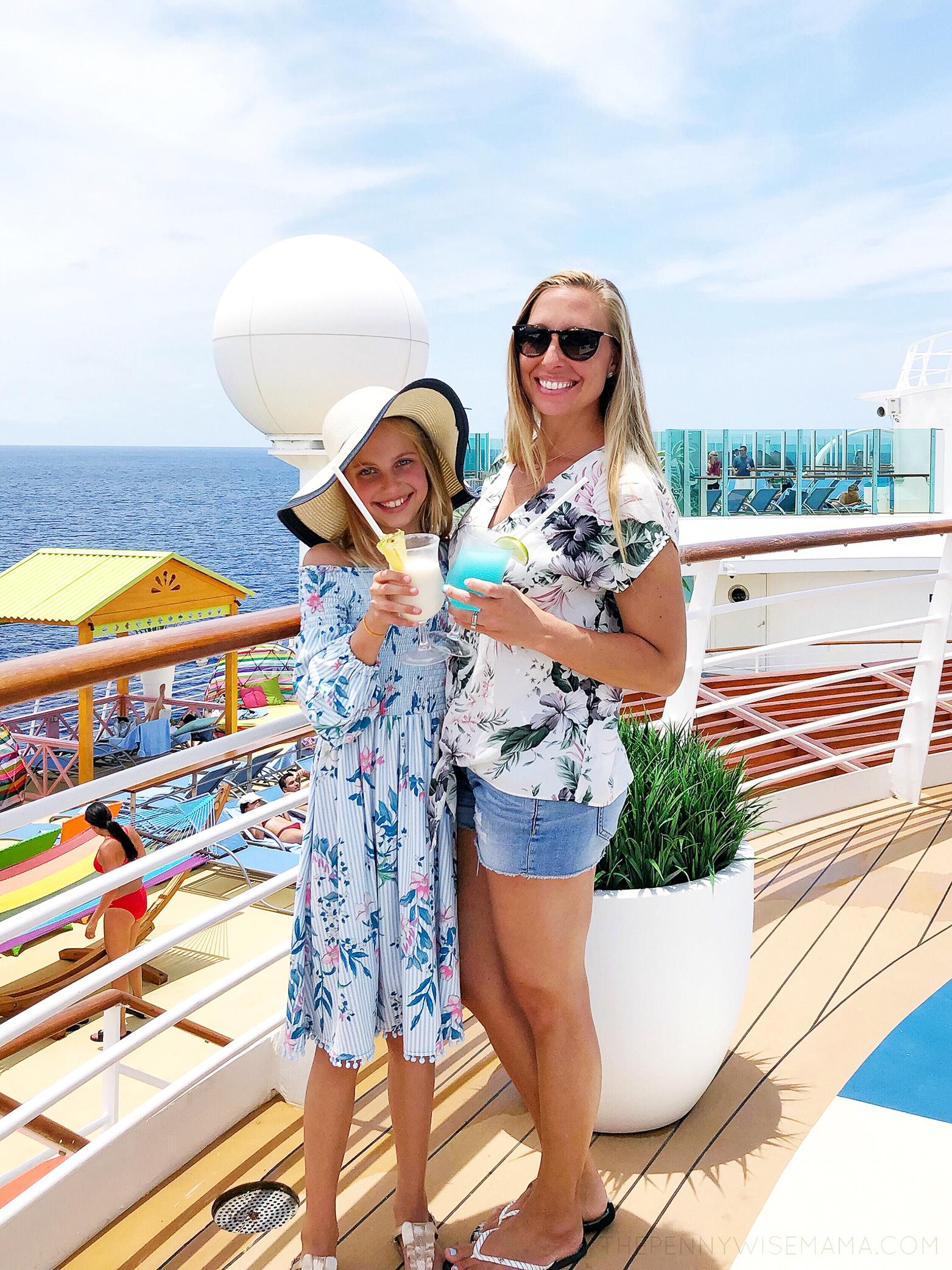 Enjoying a yummy drink on Royal Caribbean's Navigator of the Seas
