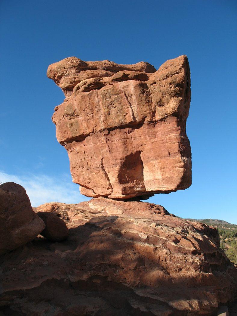 Balancing Rock, Garden of the Gods in Colorado