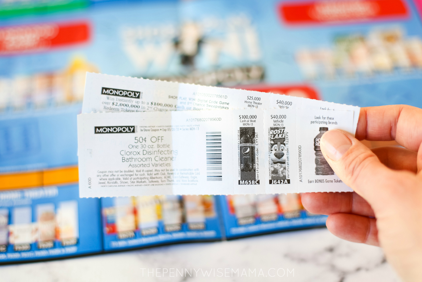 Safeway Monopoly Game Coupons