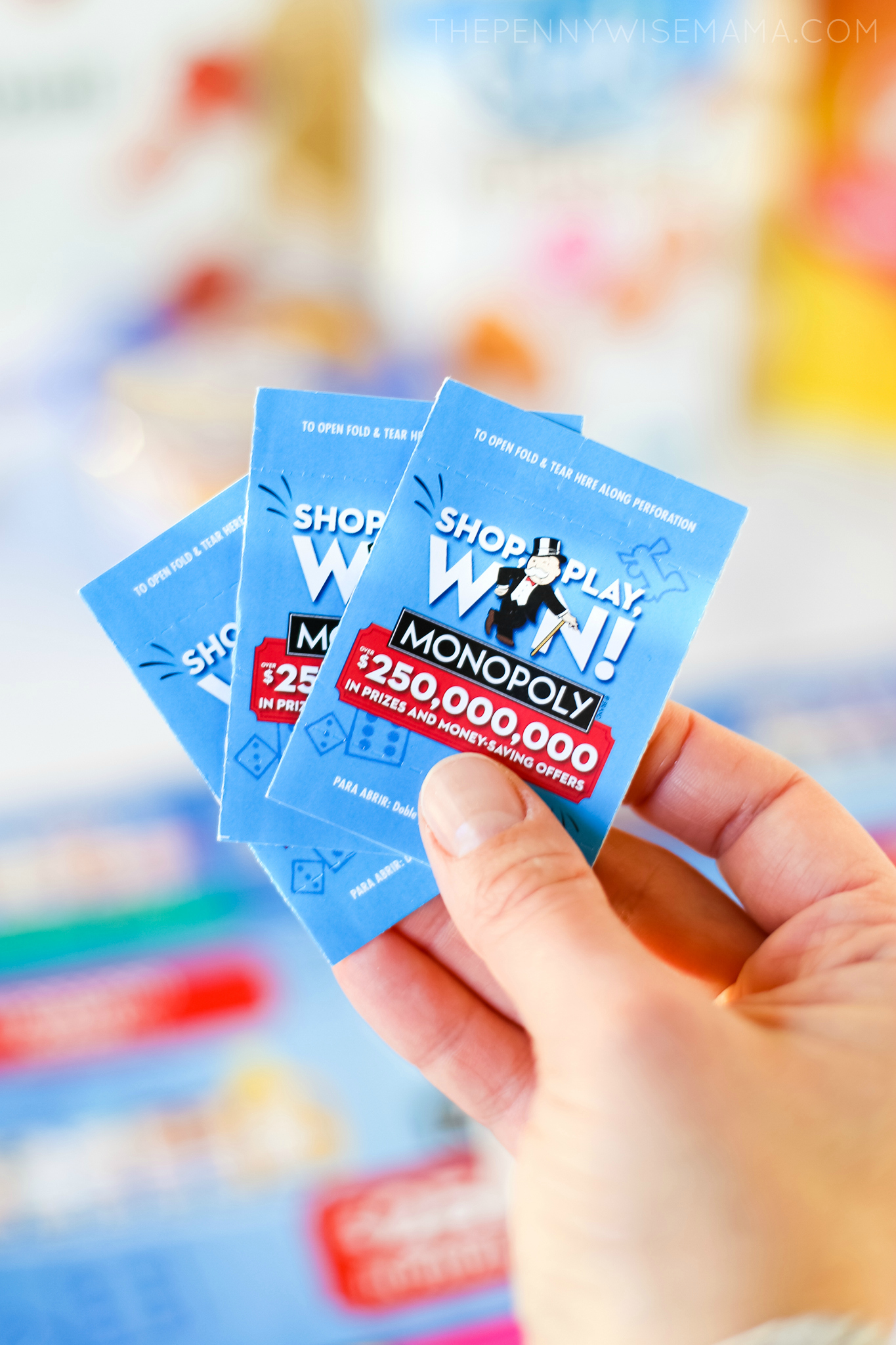 Safeway Monopoly Game Tickets